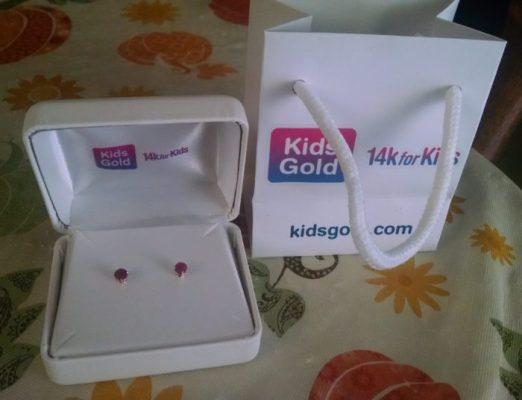Kids Genuine Birthstone Earrings 14k Gold #MDGHGG2016 #GIFTIDEAS