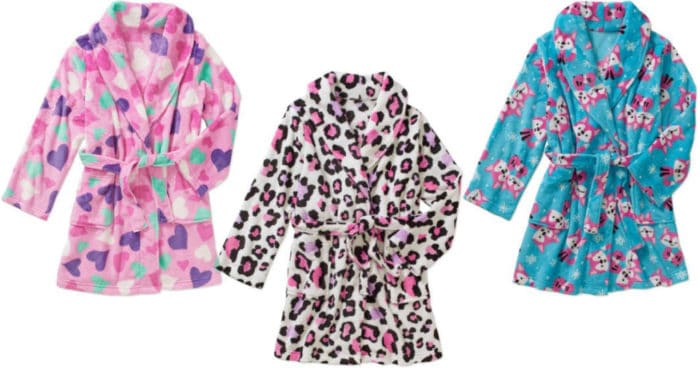 Walmart Clearance Girls' Plush Robes Only $5 (Regularly $12.97)