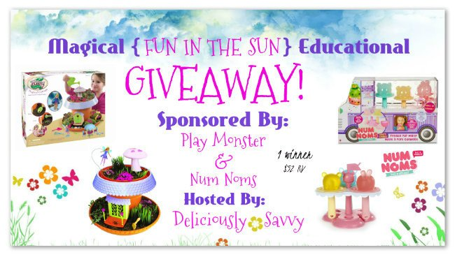 Win a My Fairy Garden Magical Cottage and Num Noms Lights Freezie Pop Maker with Food Playset (ARV $55) ~ Educational Giveaway 1 Winner (Ends 6/16) @officialnumnoms @PlayMonsterFun