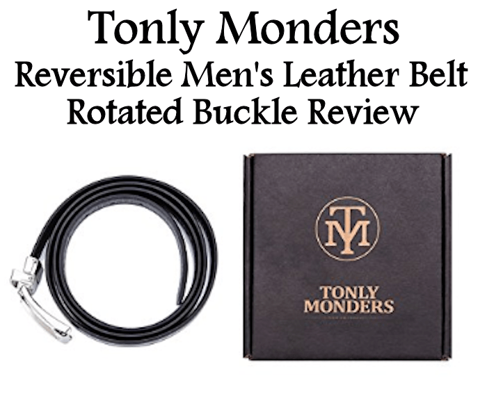 Keep in Style with a Tonly Monders Reversible Men's Leather Belt #AD
