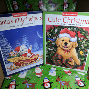 Stocking Stuffers! Cute Christmas & Santa's Helpers Holiday Coloring Books #Christmas2017
