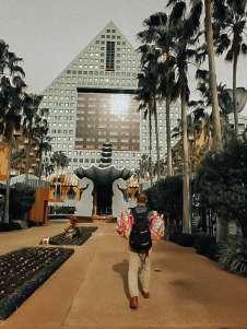 Walking to Hotel