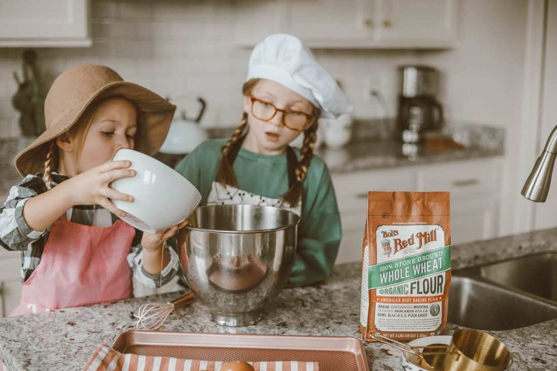 Kid Friendly   Red Mill   Rainy Day Baking: 5 Ingredient Chocolate Chip Cookies featured by top Nashville lifestyle blog Modern Day Moguls