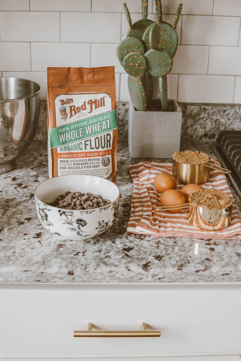 Rainy Day Baking: 5 Ingredient Chocolate Chip Cookies