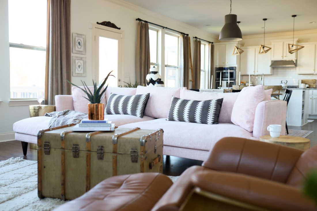 Pink Couch featured by top US lifestyle blog Modern Day Moguls