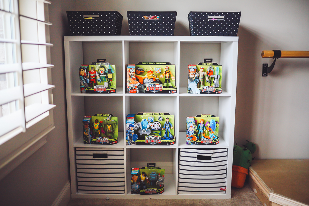 Rescue Heroes Toys: Play Time That Could Teach All Of Us Something by popular life and style blog, Modern Day Moguls:  image of a Rescue Heroes toys boxes on shelves.
