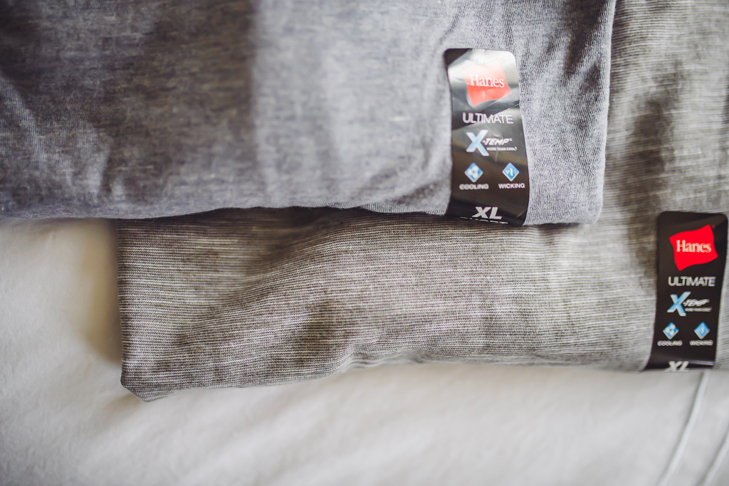 How to Be Prepared for Summer Adventures by popular lifestyle blog, Modern Day Moguls: image of two Hanes Ultimate Xtemp tees.
