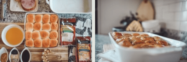 Kid Friendly Meal Prep Ideas : Back to School Edition by popular Nashville life and style blog, Modern Day Moguls: image of oven baked sandwiches with Sargento sliced cheese.