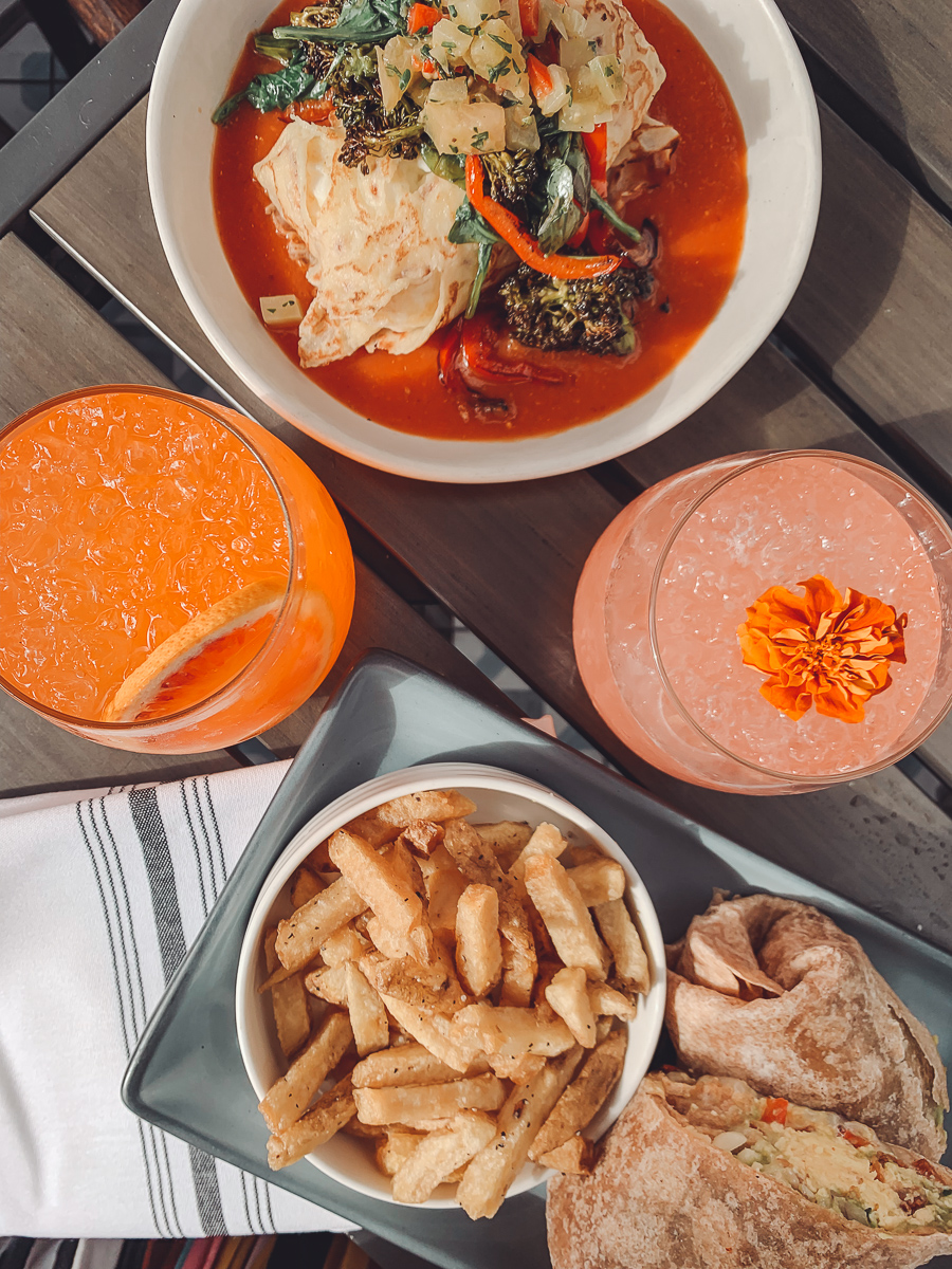 California Vacation Ideas for a Momcation in Orange County by popular Nashville travel blog, Modern Day Moguls: image of restaurant food.