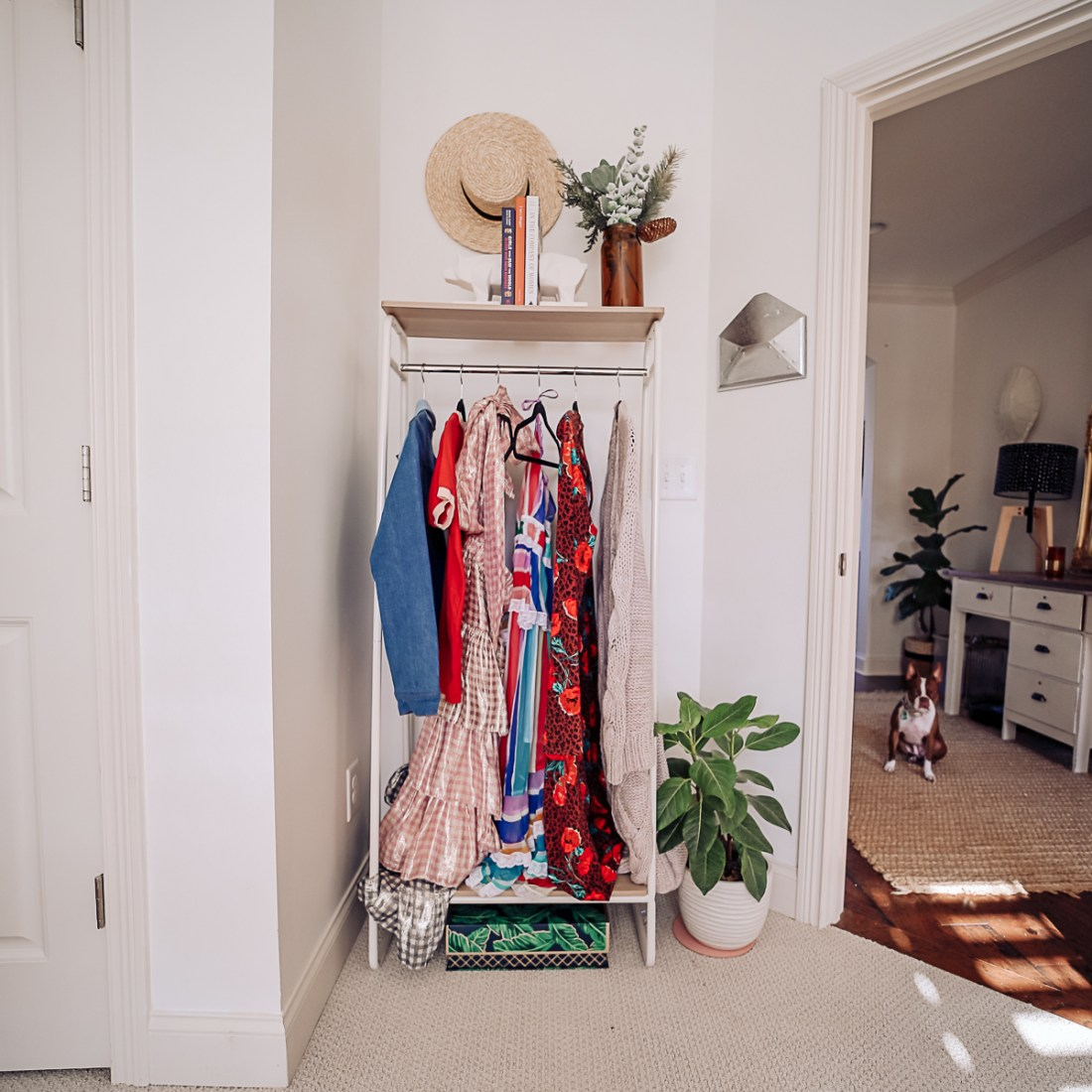 nuuly clothing rental review | Nuuly Review by popular Nashville life and style blog, Modern Day Moguls: image of vintage clothing hanging on a clothing rack.