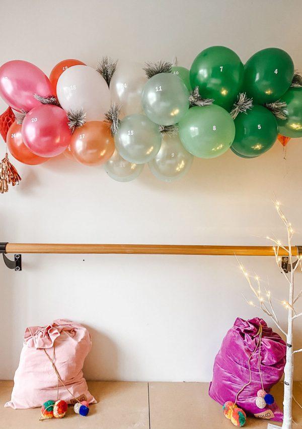 How to Make a DIY Balloon Garland Advent Calendar