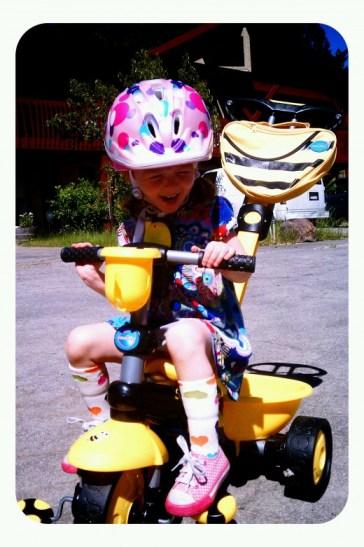 Olivia loves her Smart-Trike