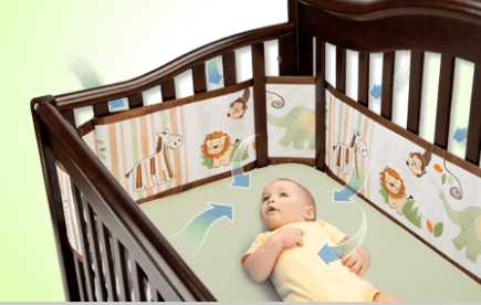 6. BreathableBaby Mesh Crib Liner