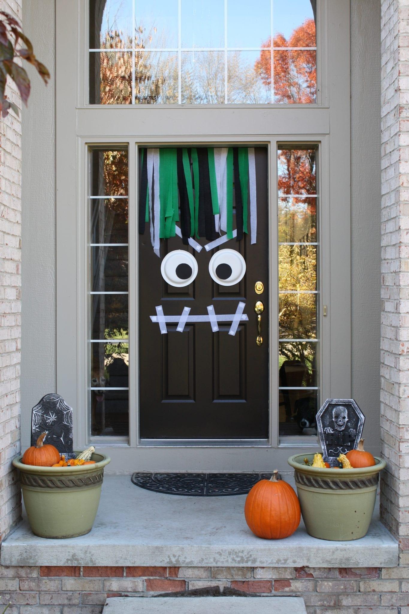 DIY Front Door Halloween Monster & DIY Front Door Halloween Monster \u2013 Modern Day Moms