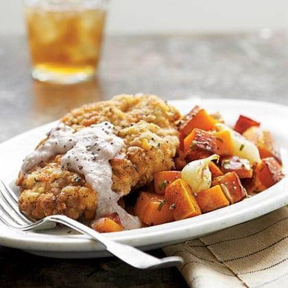 Country Fried Steak with Cornmeal Gravy