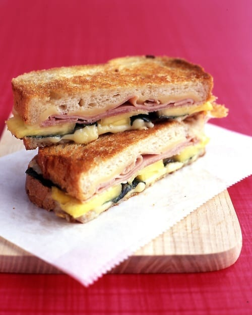 Grilled Ham and Cheese with Pineapple