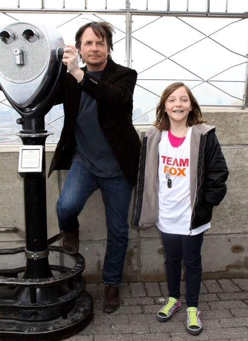 Daughter Esme Fox Brings Great Happiness to Dad Michael J on Parkinson's Research Day