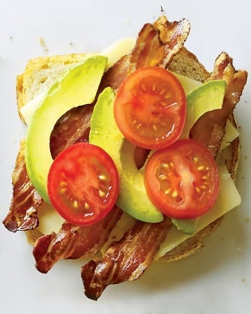 Cheddar, Dijon Mustard, Bacon, Tomatoes, Avocado, and Pepper on Sourdough