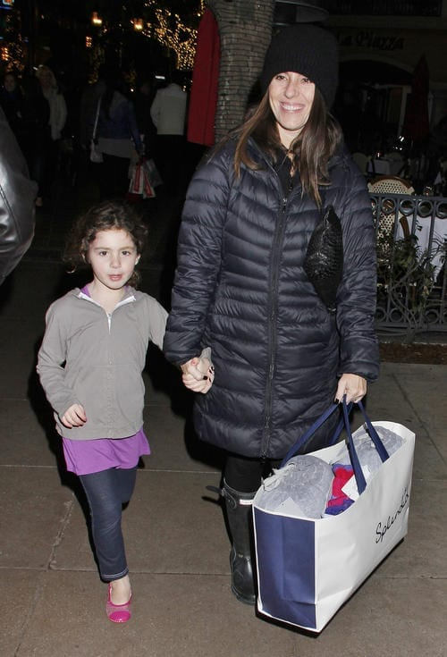 Soleil Moon Frye and daughter Poet shop for holidays gifts at The Grove [USA ONLY]