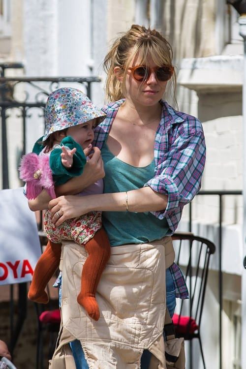 *EXCLUSIVE* Sienna Miller and baby Marlowe have a tight bond **USA, Australia ONLY**
