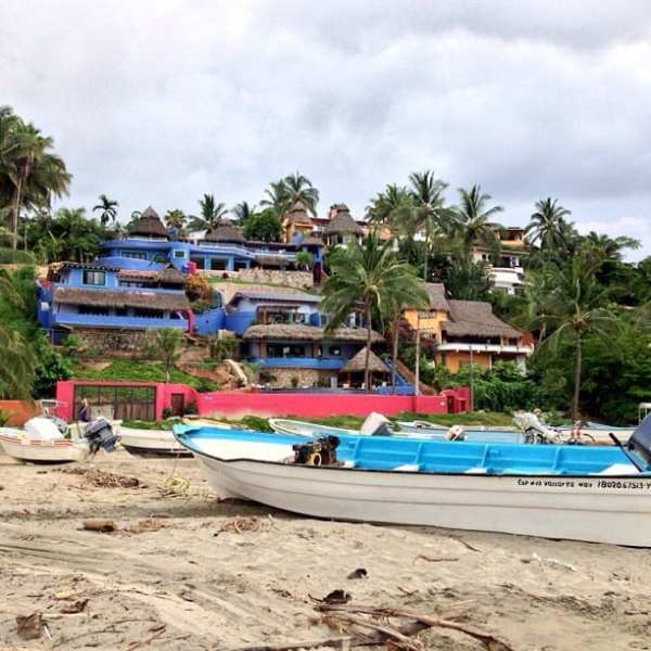 In Sayulita, people would drag their boats up on the sand to relax.