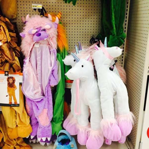 Obsessed with the kids costumes at Target. Unicorns, really?! ️ #TargetHalloween #love