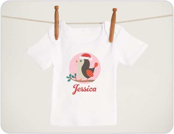 Christmas-Bird-baby-shirts