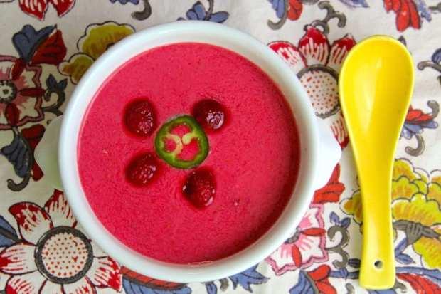 Raspberry Jalapeno Soup