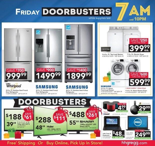 hhgregg - Black Friday Ad - Friday Doorbusters