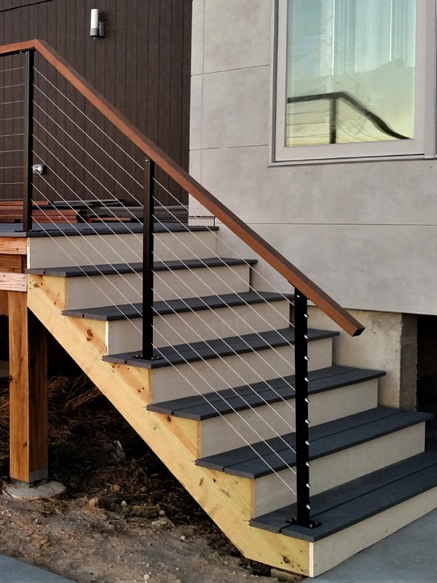Cable Deck Railing Wire Railing Mailahn Innovation   Modern Outdoor Stair Railing   Stainless Steel   Commercial   Balcony   Minimalist   Decorative