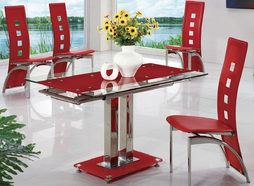 How To Create A Sensational Dining Room With Red Accents