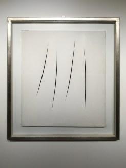 'Concetto spaziale, attese' 1964, Lucio Fontana