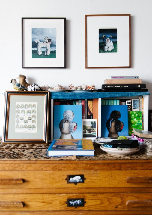 Studio wall and chest