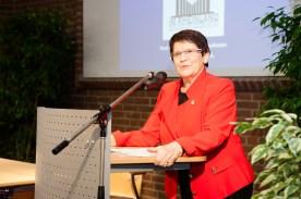 """Frau Prof. Dr. Rita Süssmuth hielt ein Impulsreferat zum Themenfeld """"Von Uni zu Uni: Wissenschaftstransfer im institutionellen Rahmen"""""""