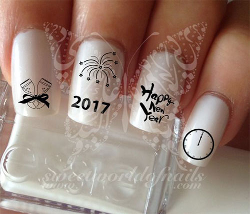 15 Inspiring Hy New Year Eve Nail Art Designs Ideas 2017