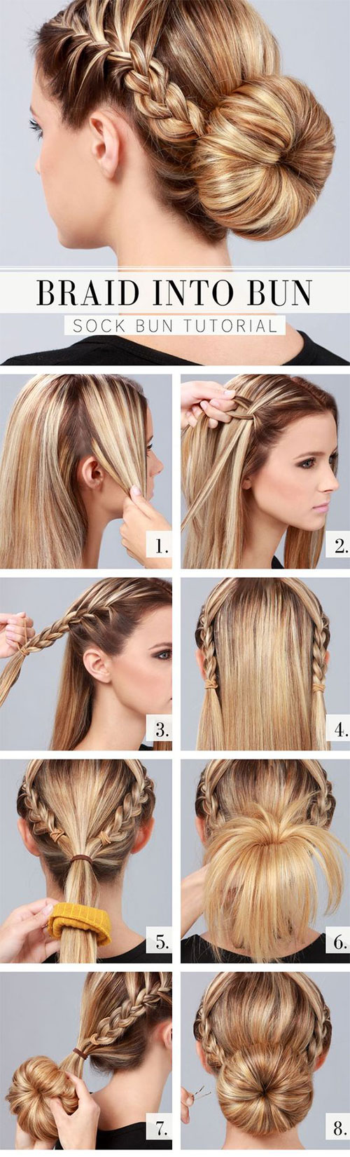 12+ easy step by step summer hairstyle tutorials for