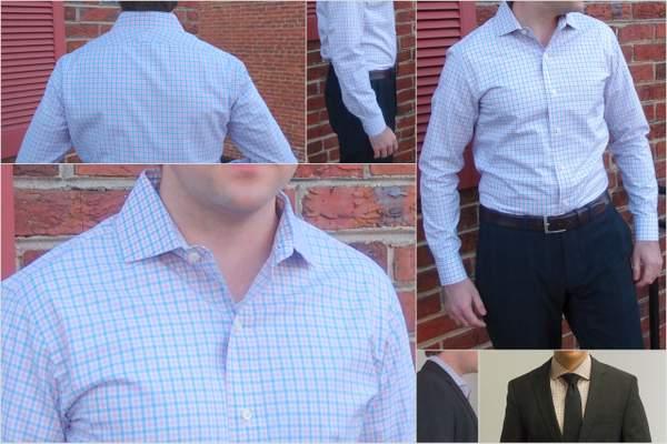 Ratio Clothing's Harrison Tattersal dress shirt.