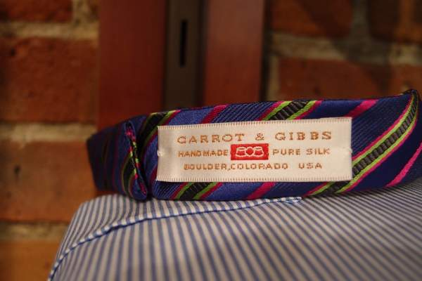 Carrot and Gibbs bow ties at homer reed in denver