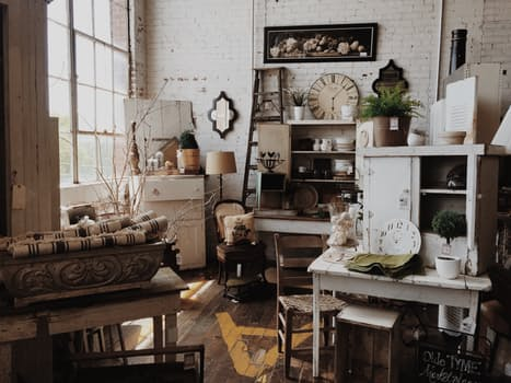 Antique store home goods and furniture