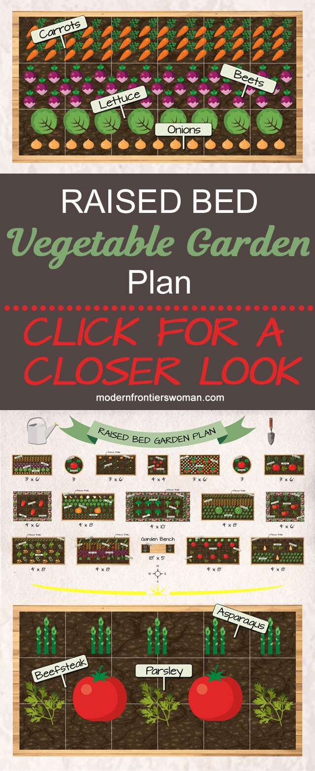Raised Bed Vegetable Garden Plan - Click for a closer look!