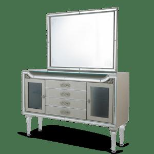 Bel Air Park Sideboard & Mirror Champagne