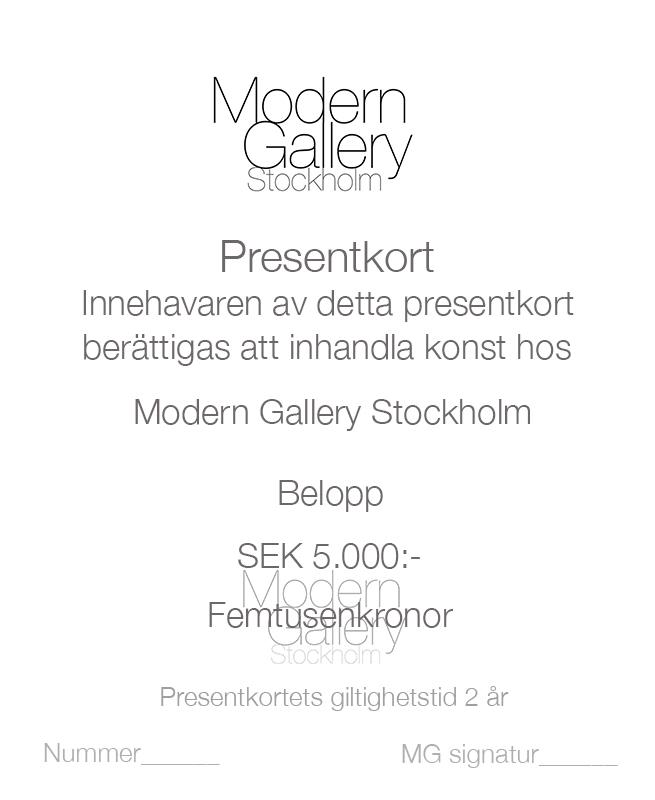 Modern Gallery-Presentkort