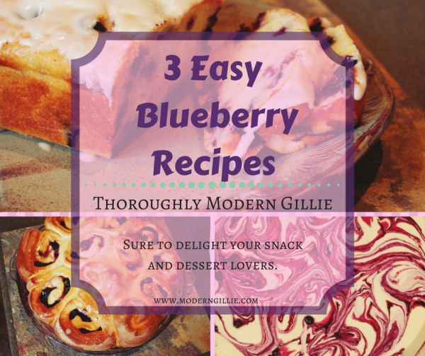 blueberry recipes, www.moderngillie.com