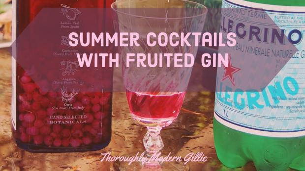 Summer Cocktails with Fruited Gin, www.moderngillie.com, summer drinks, refreshing drinks