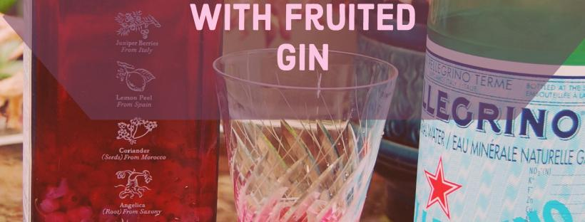 Summer Cocktails with Fruited Gin, www.moderngillie.com, gin cocktails, fruit drinks