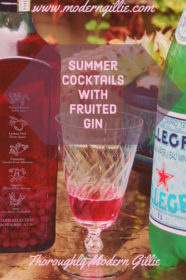Summer Cocktail with Fruited Gin, Refreshing Summer Drinks, www.moderngillie.com