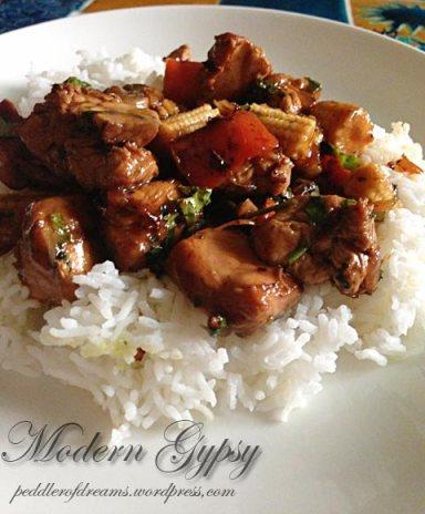 Stir-fried-chicken