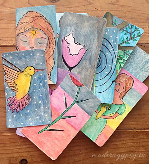 how to create your own oracle cards