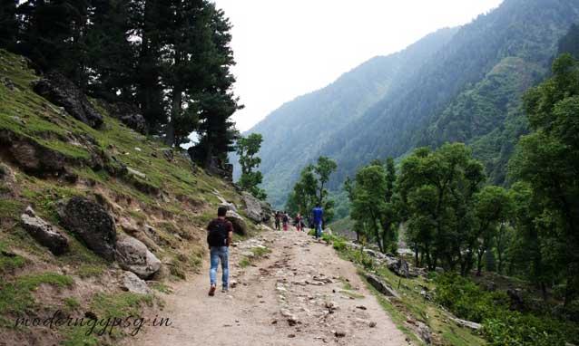 hiking trail at Naranag, Kashmir