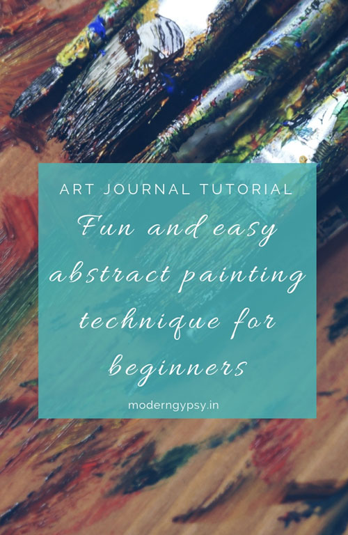 Fun and easy abstract painting technique for beginners using just a handful of art supplies. Speed through video, step-by-step instructions, and a complete supply list included!
